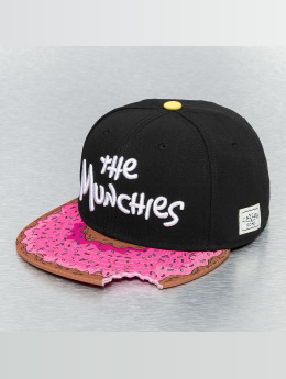 Cayler & Sons Green Label Munchies Snapback Cap Black/Pink Donut/White