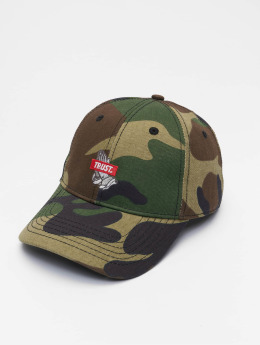 Cayler & Sons WL Trust Snapback Curved Cap Woodland/Red