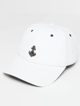 Cayler & Sons WL Stay Down Snapback Curved Cap White/Navy