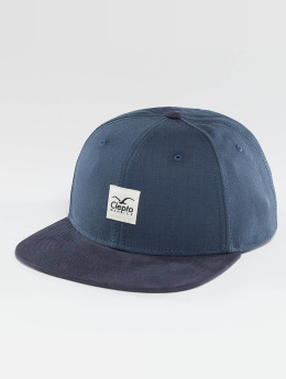 Cleptomanicx Snapback Cap Badger 2 blau