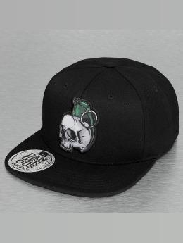 Dangerous DNGRS Snapback Caps Skull musta