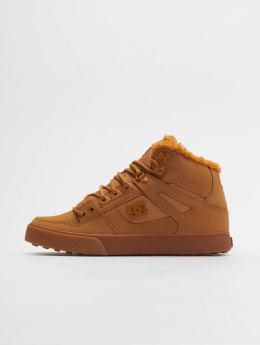 DC Sneakers Pure High Top Wc Wnt brazowy