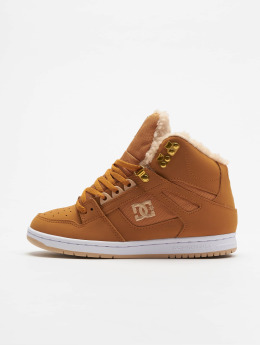 DC Sneakers Pure High Top Wnt hnedá