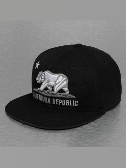 Decky USA Fitted Cap California schwarz