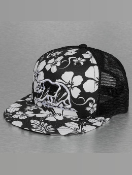 Decky USA trucker cap Floral 5 Panel zwart