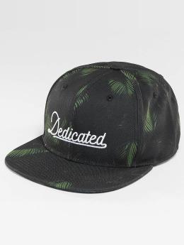 DEDICATED Snapback Cap Dark Leaves black