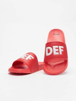 DEF Chanclas / Sandalias Defiletten rojo