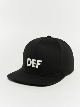 DEF Snapback Cap Logo schwarz