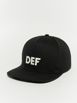 DEF Snapback Caps Logo čern