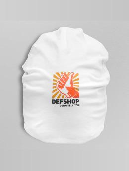 DefShop Beanie Logo weiß
