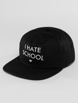 Diamond Snapback Cap I Hate School nero
