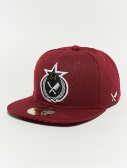 Distorted People Snapback Cap Russian Blades red