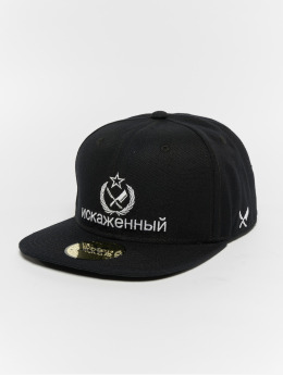 Distorted People Snapback Caps People Russia svart