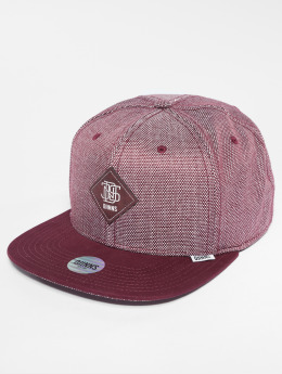 Djinns Casquette Snapback & Strapback 6p 2tone Oxford rouge