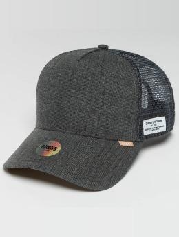Djinns Casquette Trucker mesh Glen Check gris
