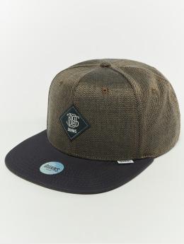 Djinns snapback cap 6p 2tone Oxford blauw