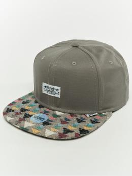 Djinns Snapback Cap 6p Wlu Triangle Rev. grau