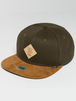 Djinns snapback cap 6 Panel Light Canvas olijfgroen