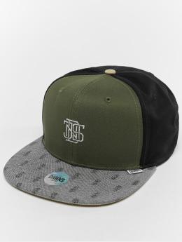 Djinns snapback cap 6p L-Block olijfgroen