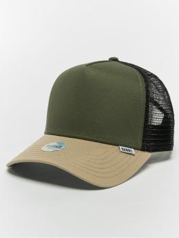 Djinns snapback cap Hft Block olijfgroen