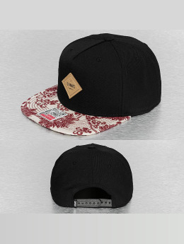 Djinns Snapback Cap Feather Crazy Pattern schwarz
