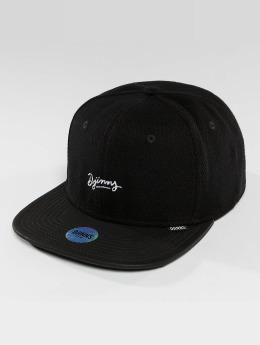 Djinns Snapback Cap 6 Panel Piki Leather schwarz