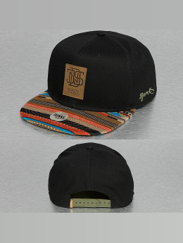 Djinns snapback cap 6P Jersey Aztec zwart
