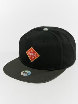 Djinns snapback cap 6p Cigar zwart