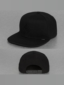 Djinns Snapback Caps Monochrome 6 Panel čern