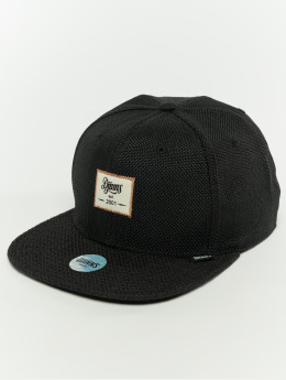 Djinns Snapback Caps 6p Jute Mix čern