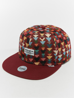 Djinns Snapback Caps 6p Wlu Triangle červený