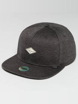 Djinns Snapback Caps 6 Panel Jersey Pin šedá