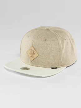Djinns Snapback Caps Flannel 6 Panel béžový