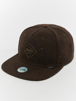 Djinns Snapback Caps 5p Spotted Edge brazowy