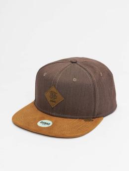Djinns Snapback Caps 6p Linen 2015 hnědý