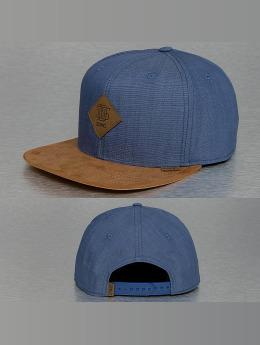Djinns Snapback Caps Buckle Linen modrý