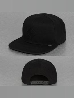 Djinns Snapback Caps Monochrome 6 Panel musta