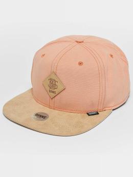 Djinns Snapback Caps Melange Twill roosa