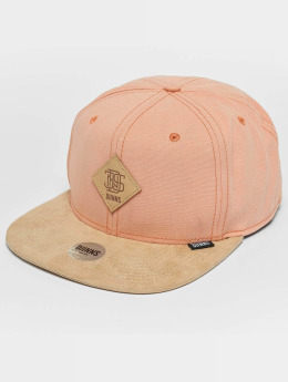 Djinns Snapback Caps Melange Twill rosa