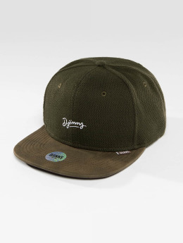 Djinns Snapback Caps 6 Panel Piki Leather ruskea