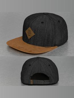 Djinns Snapback Caps Buckle Linen svart