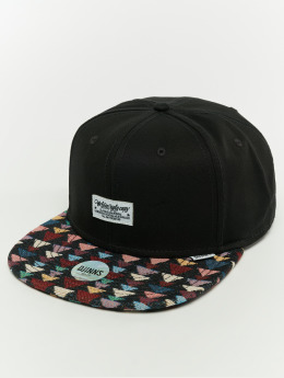 Djinns Snapback Caps 6p Wlu Triangle Rev. svart