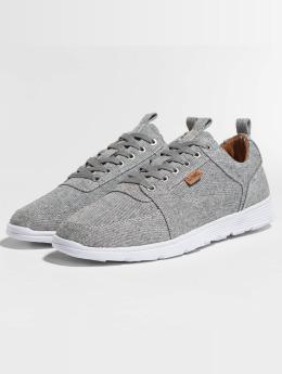 Djinns Sneakers For Low Spotted Linen šedá