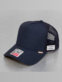 Djinns Trucker Cap Glen Check High Fitted blau