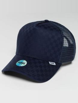 Djinns Trucker Cap HFT Tie Check blau