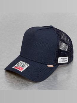Djinns Trucker Cap Glen Check High Fitted blue