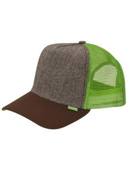 Djinns trucker cap Tweed Combo High Fitted bruin