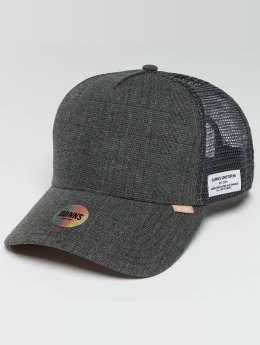 Djinns Trucker Cap Glen Check grau