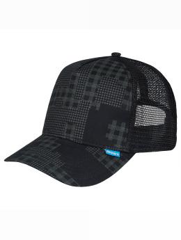Djinns trucker cap Camou High Fitted zwart