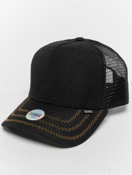Djinns Trucker Caps Hft Jute Mix čern